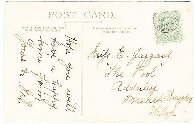 GB 190(?)7 postcard with Audlem postmark
