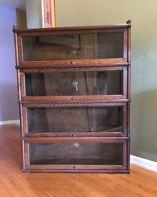 Stacking Barrister Bookcase, Globe-Wernicke, Made in England