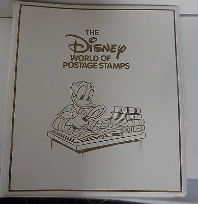 The Disney World Of Postage  Stamps One Album With Contents