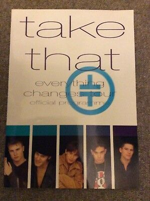 Take That Everything Changes Tour Official Programme 1993