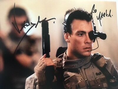 Jean Claude Van Damme signed photo (In Person) Expendables, Bloodsport