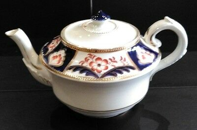 Antique / Vintage English Made Hand Painted Teapot with Gold Gilding