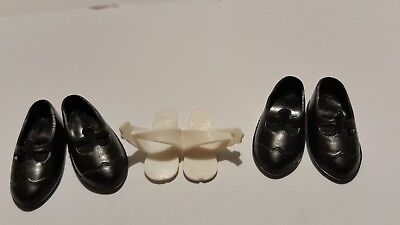Pedigree Sindy Doll Shoes X Three Pairs 1960S