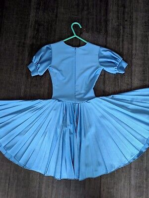 NDCA USAD approved Competition  ballroom basic dress blue 6-7 years old