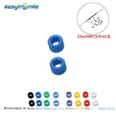 EASYINSMILE Dental Hygienist Color Code Rings Instrument Silicone Code Rings