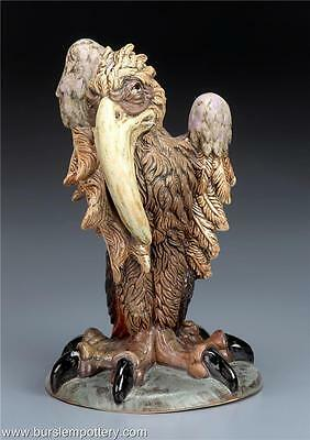 Burslem Pottery Grotesque Bird Lovely Horace Inspired By Martin Brothers