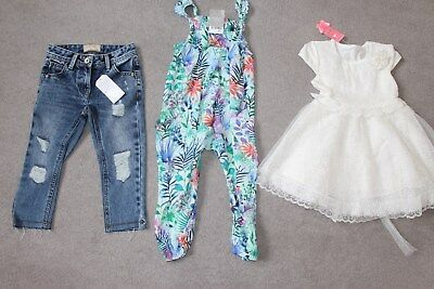 Girls bundle of clothes 2 - 3 years (denim jeans, playsuit, dress)