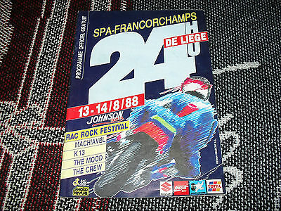 1988 Spa Francorchamps Programme - Motorcycle 24 Hours