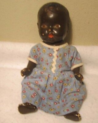 Antique Composition Black African American Baby Doll Nds Tlc For Repair Or Parts