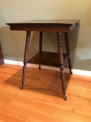 Glass Ball and Claw-foot antique Lamp Table