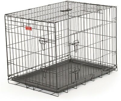 30'L Lucky Dog Folding Black Wire 2 Door Training Crate