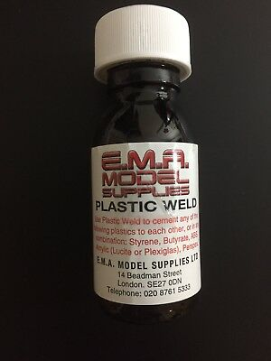 Plastic Weld glue for model making, acrylic, perspex, ABS, styrene