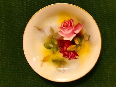 Antique Royal Worcester Millie Hunt Signed & Hand Painted Pin Dish Made 1925
