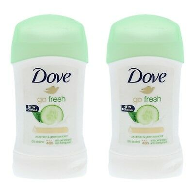 2 X Dove Cucumber Anti - Perspirant Deodorant Stick 40Ml 48 Hrs Protection