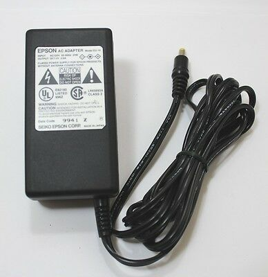 EPSON AC ADAPTER MODEL EU-19 DC V7.0V 2.0A AC120V 50-60Hz 23 Watts