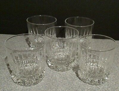 Cristal D'arques Durand BARCELONA Old Fashioned Glass - set of 5!