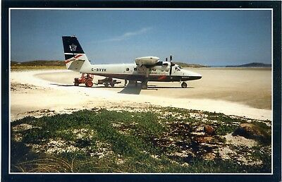 Barra Airport - British Airways Twin Otter - Postcard View