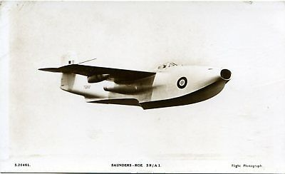 Saunders Roe Sr/a1 Jet Flying Boat - Old Real Photo Postcard View