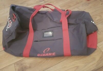 Oceanic Diving Kit Bag (Grey and Red)