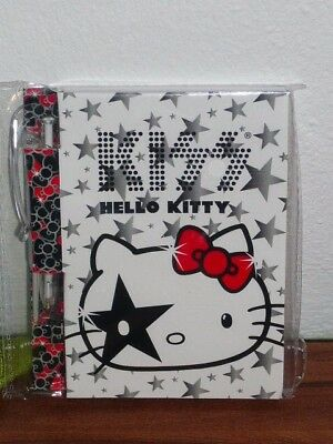 hello kitty kiss notizbuch mit zeilen spiralblock block. Black Bedroom Furniture Sets. Home Design Ideas
