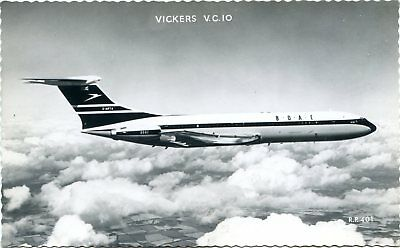 Boac - Vickers Vc-10 - Old Real Photo Postcard View