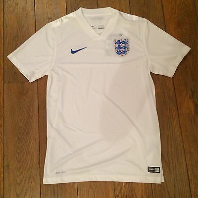 Maillot Angleterre  England Domicile Home Blanc Taille L Neuf