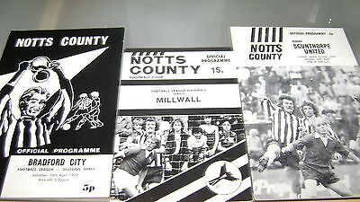 6 x notts county 1970s home programmes in excellent condition