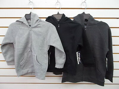Boys Timber Gray Heather, Black, or Charcoal Full Zip Hoodie Size 4 - 18