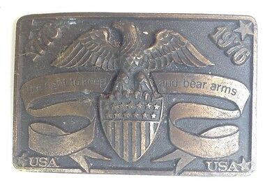 USA Belt Buckle Style Plaque Display Vintage American Retro Classic