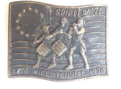 Bicentennial Belt Buckle Style Plaque Display Vintage American Retro Classic
