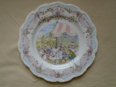 "Royal Doulton Brambly Hedge The Wedding 8"" Plate 1St Quality."