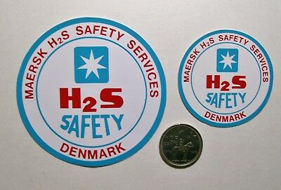 2 Oilfield Hard Hat Stickers / Maersk H2S Safety Services