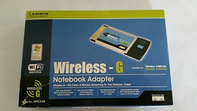 Linksys Wireless-G Notebook Adapter Model WPC54G Boxed