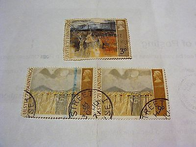 Gb 1971 Ulster Paintings Commemorative Stamps