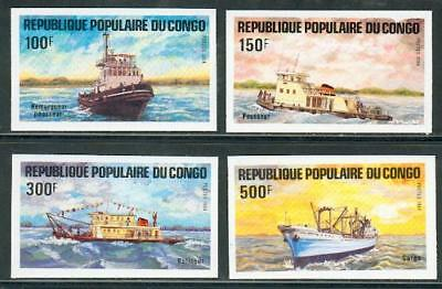 Congo imperforated set ships ** MNH Schiffe bf29