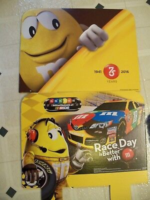 M&M Candy Store Display Cardboard Toppers~NASCAR #18 & 75th Anniversary
