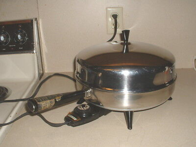 Farberware Stainless Electric Fry Pan/Skillet w/Dome Lid & 3 Piece Steamer Set