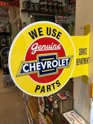 Chevrolet Repro Double Sided Flanged Sign