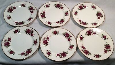 "Collectable Vintage Set Of 6x ""Margaret Rose"" By Ridgway Side/bread Plates"
