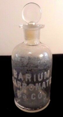 Cir 1879 Whithall & Tatum & Co Apothecary Storage Bottle  Raised Letters Ba CO3