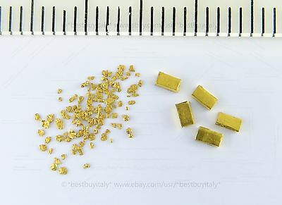 (US) 5 gold bullion 999.9+150 gold nuggets certified with hologram