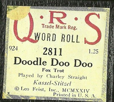 Doodle Doo Doo played by Charley Straight QRS 2811 Piano Roll Original
