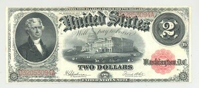 $2 Series 1917 Fr. 60 United States Note very high grade (AU/CU) and no reserve