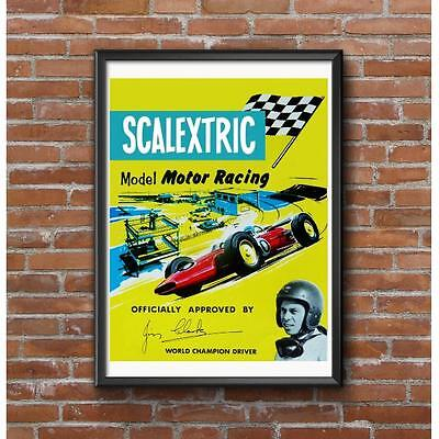 Scalextric Slot Cars Poster - Vintage Slot Car Racing 1960's