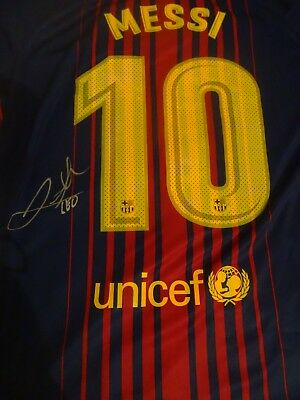 Messi signed Barcelona shirt  2017  with coa