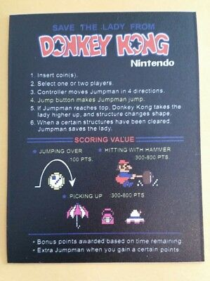 Donkey Kong Cocktail instructions sticker. 3x4. (Buy 3 stickers, GET ONE FREE!)