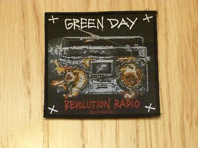Green Day - Revolution Radio (New) Sew On W-Patch Official Band Merchandise