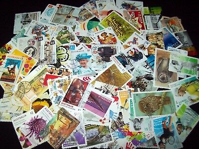 Australian stamps $1.00 - 70 different 2016/2017 Stamps Recent/Used/Bulk