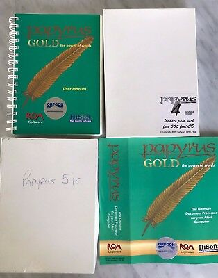 Papyrus 4, 5, Gold Word Processor for Atari ST ~ Serious Software