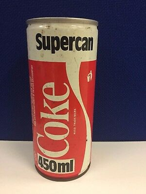 Can Supercan old Coca Cola 1980 Soulth Africa  Very Rare 450ml.